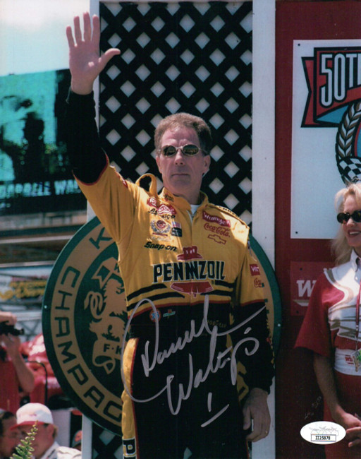 Darrell Waltrip Signed Autographed 8X10 Photo Nascar Hand in Air JSA II25878