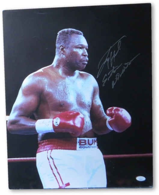 "Larry Holmes Signed Autograph 16X20 Photo ""Eaton Assassin"" Inscribed JSA II25514"