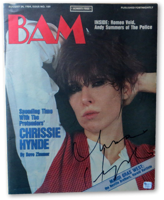 Chrissie Hynde Signed Autographed BAM Magazine The Pretenders GV168877