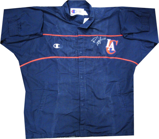 Darius Miles Los Angeles Clippers Signed GAME USED Warm Up Jacket RARE Size 50