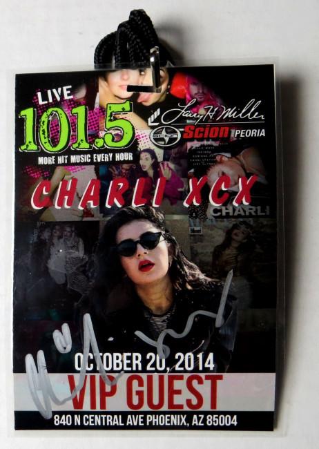Charlotte Aitchison Charli XCX Signed Autograph VIP Laminated Pass  JSA II22718
