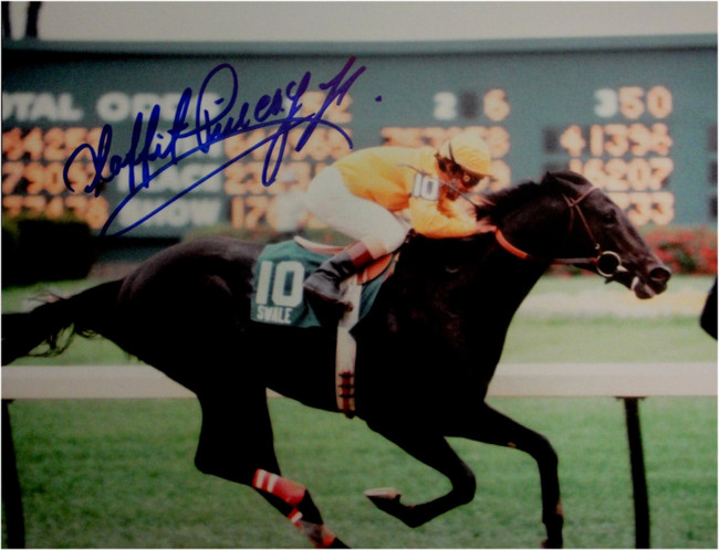 Laffit Pincay Jr Hand Signed Autographed 8x10 Photo Kentucky Derby 1984 Blue Ink