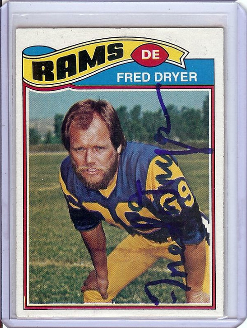 Fred Dryer 1977 Topps Hand Signed Autograph Auto GX31339 Rams #513