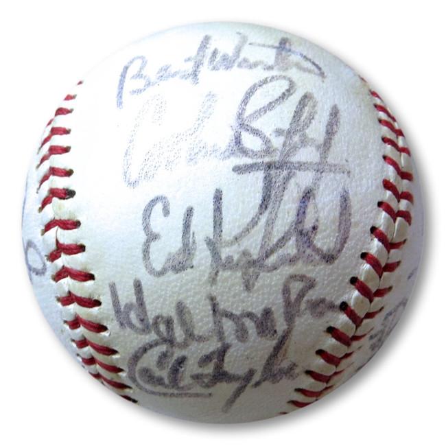 1973 Kansas City Royals Signed Autographed Baseball Piniella Otis McRae LOA