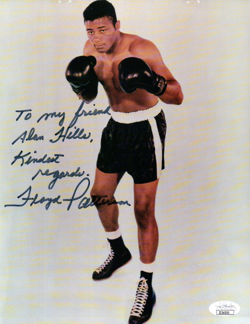 "Floyd Patterson Signed Autographed 8X10 Photo Vintage Pose ""To Alan"" JSA II24351"