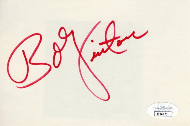 Bobby Vinton Signed Autographed Index Card Legendary Singer JSA II24970