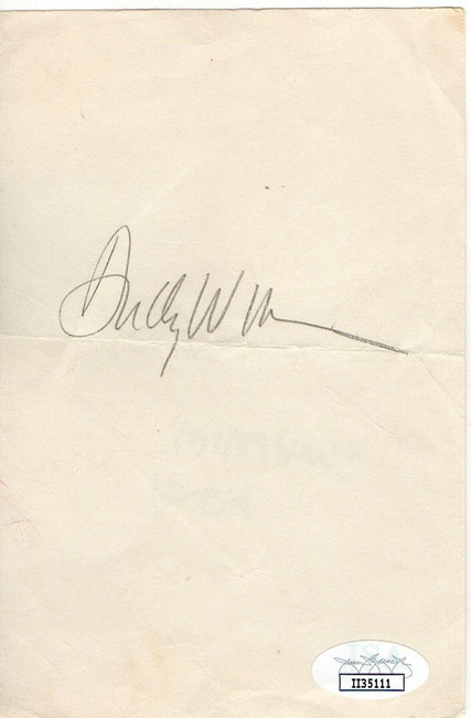 Andy Williams Signed Autographed Paper Cut Legendary Singer JSA II35111