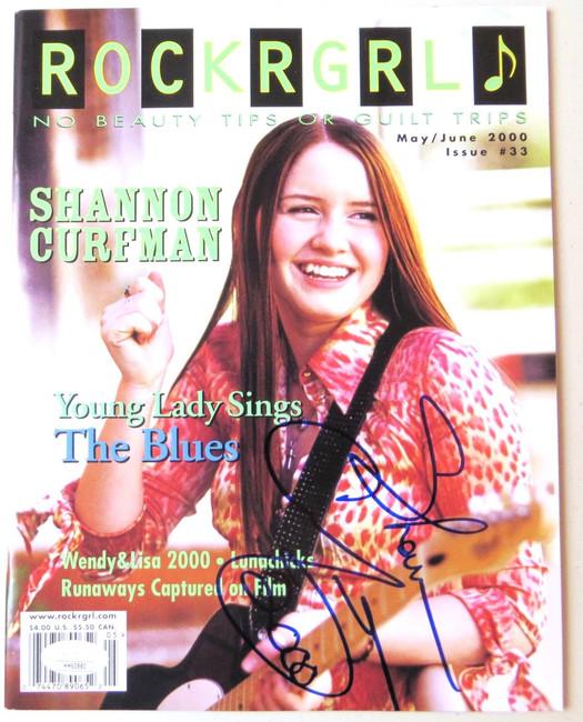 Shannon Curfman Signed Autographed Rockgrl Magazine May/June 2000 JSA HH60880