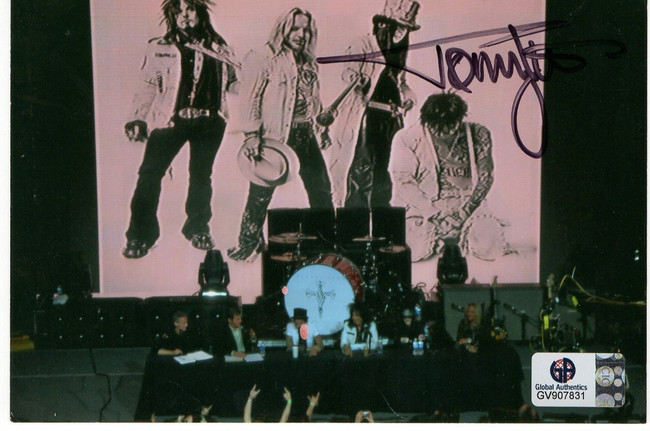 Tommy Lee Signed Autographed 4X6 Photo Motley Crue Drummer GV907831
