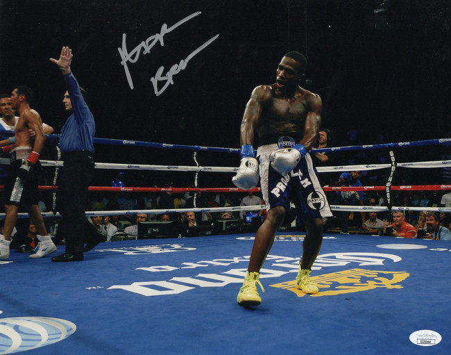 Adrien Broner Signed Autographed 11X14 Photo Post Fight Dance JSA II23344