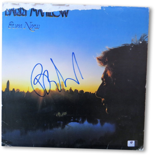 Barry Manilow Signed Autographed Record Album Cover Even Now Damaged GV865020