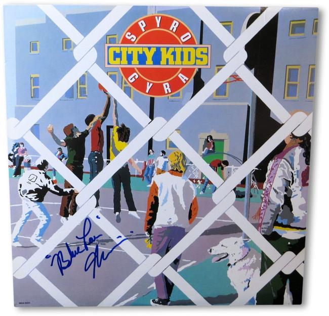 Blue Lou Marini Signed Autographed Record Album Spyro Gyra City Kids JSA HH60909