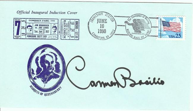Carmen Basilio Signed Autographed Envelope Legendary Boxer JSA II35670