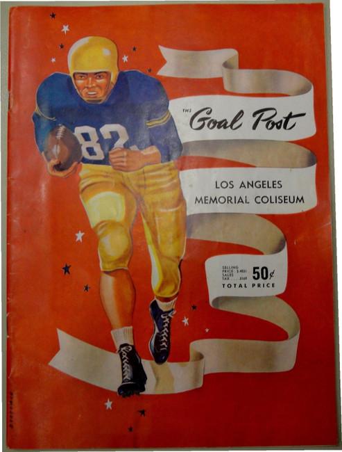 OSC VS UCLA Goal Post Football Program Opening Day September 18, 1953