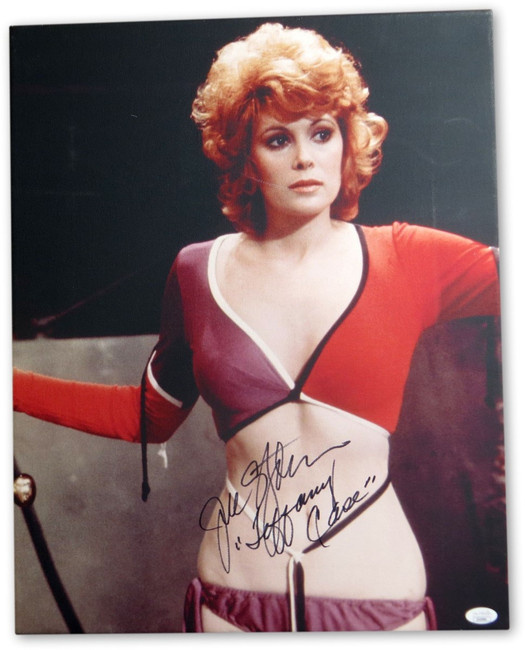 Jill St. John Autographed 16X20 Stretched Canvas Photo James Bond JSA II43990