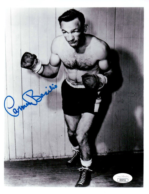 Carmen Basilio Signed Autographed 8X10 Photo Vintage Boxing Legend JSA II35711