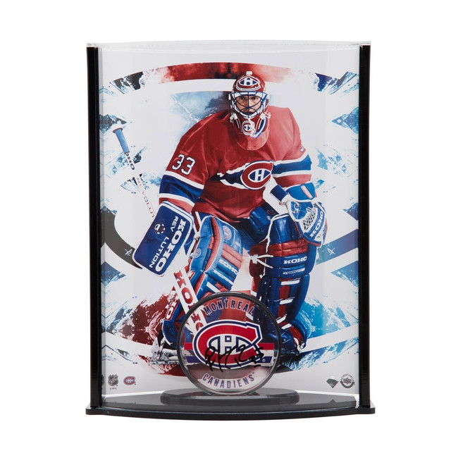 Patrick Roy Signed Autographed Acrylic Puck/Photo Curved Display Canadiens UDA