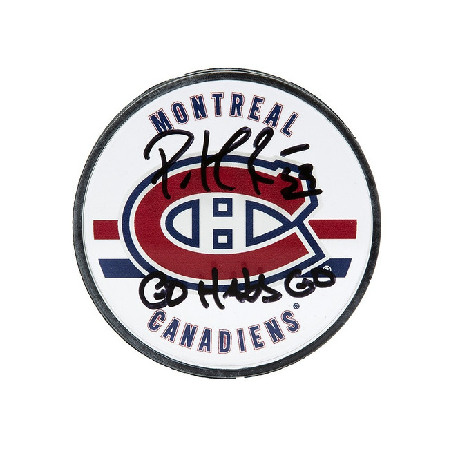 Patrick Roy Signed Autographed Acrylic Puck Montreal Canadiens Go Habs Go UDA