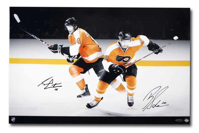 Brayden Schenn Sean Couturier Dual Signed Autographed 16X24 Photo Flyers