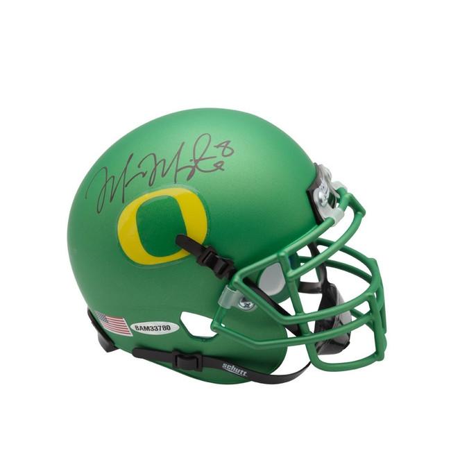 Marcus Mariota Signed Autographed Mini Helmet Apple Green Oregon Ducks UDA
