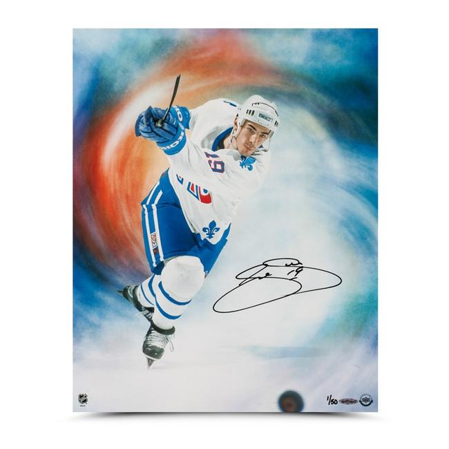 """Joe Sakic Signed Autographed 16X20 Photo """"Journey"""" Quebec Nordiques #/50"""