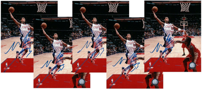 (5) Mikki Moore Signed 8X10 Autograph Photos Clippers Dunkings w/COA 5 Count Lot