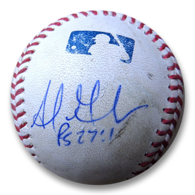 Adrian Gonzalez Signed Autographed Game Used Baseball Dodgers vs. Rockies w/COA