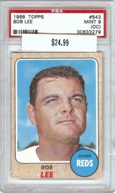 Bob Lee 1968 68 Topps #543 Graded PSA 9 Mint (Oc)