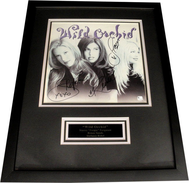 Stacey Fergie Ferguson Sands Ridel Band Signed Record Custom Framed Wild Orchid
