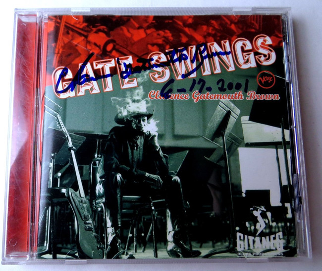 Clarence Gatemouth Brown Signed Autographed CD Booklet Gate Swings JSA JJ82085