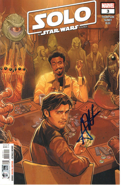 Alden Ehrenreich Signed Autographed Comic Book Solo A Star Wars Story SW221364