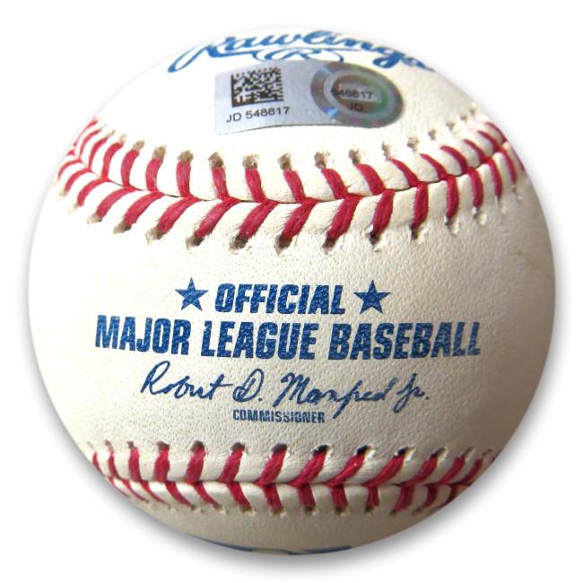 Blake Snell Unsigned Game Used Baseball vs. Deshields 2018 MLB JD548817