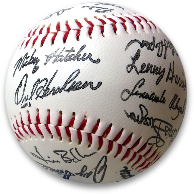 1989 Los Angeles Dodgers Unsigned Baseball Team Stamped Signature Autos
