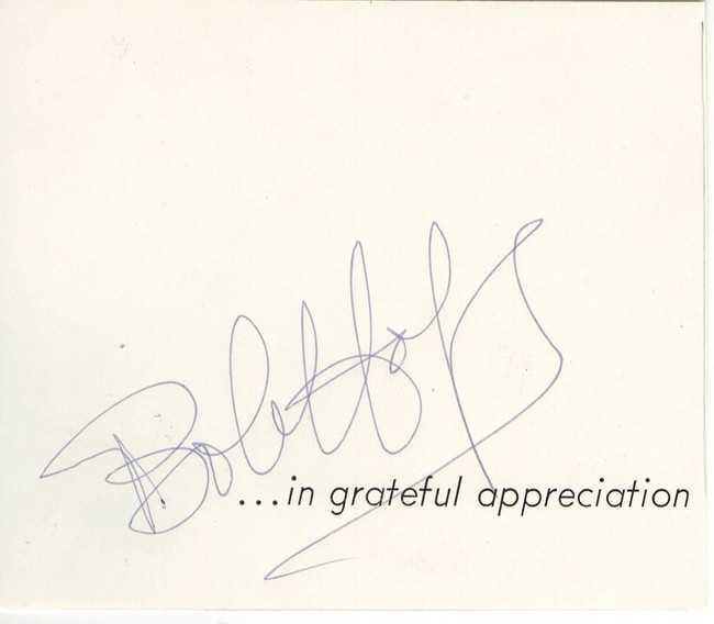 Bob Hope Signed Autographed Cut Signature Legendary Comedian PSA V19373