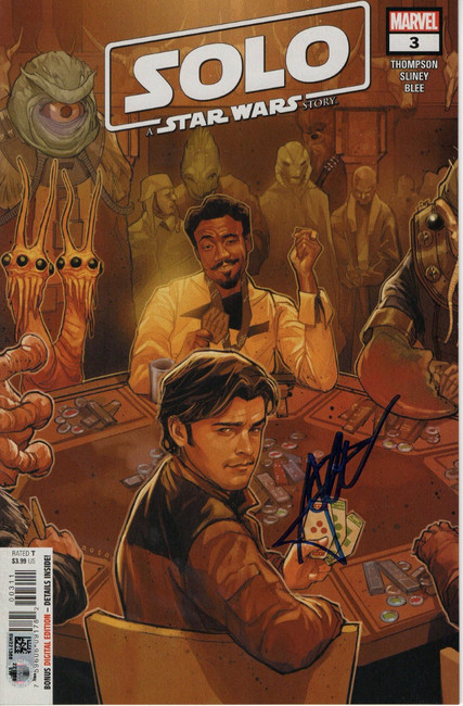 Alden Ehrenreich Signed Autographed Comic Book Solo A Star Wars Story SW221368