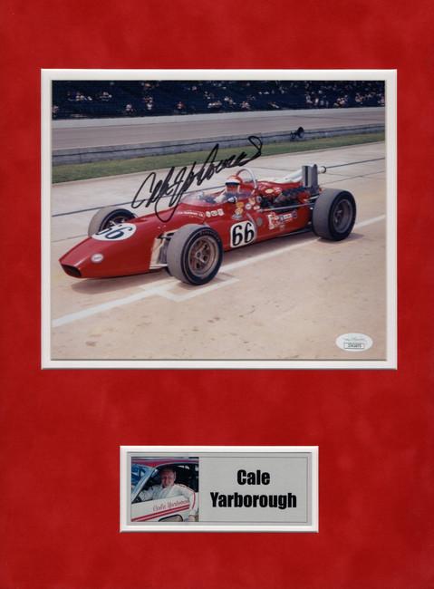 Cale Yarborough Signed Autographed Matted 8X10 Photo IndyCar Legend JSA JJ41673