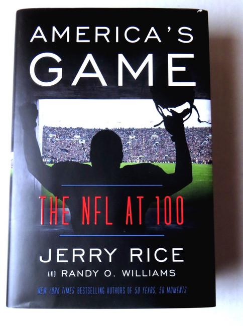 Jerry Rice Signed Autographed Book America's Game NFL Legend JSA KK55105
