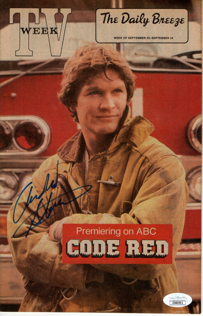 Andrew Stevens Signed Autographed TV Week Magazine Code Red 1981 JSA JJ40501