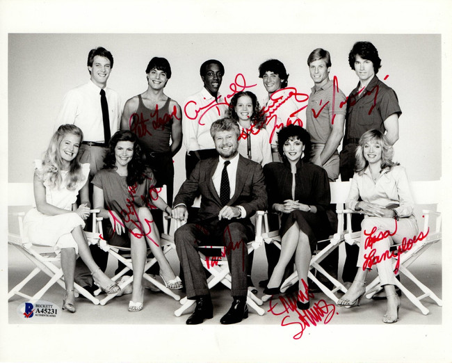 1982 ABC Stars Signed Autographed 8X10 Photo Arsenio Hall Kitaen Beckett LOA