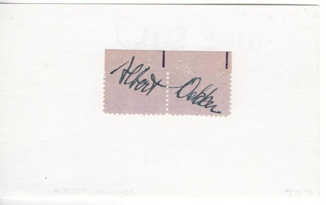 Albert Dekker Signed Autographed 3X5 Index Card Legendary Actor JSA JJ41551