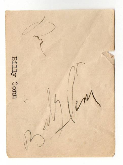 Billy Conn Signed Autographed Paper Cut Signature Boxing Legend JSA JJ41600
