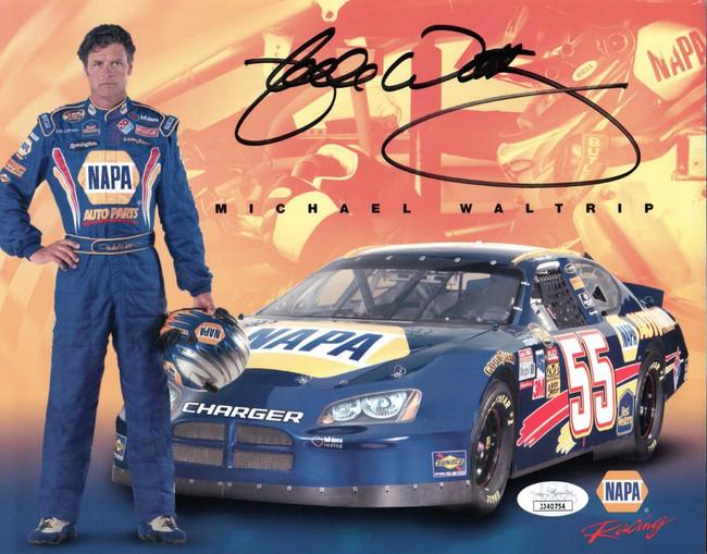 Michael Waltrip Signed Autographed 8X10 Photo NASCAR Legend JSA COA