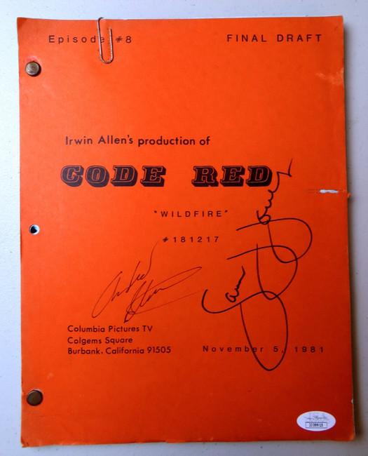 Andrew Stevens Sam Jones Signed Autographed TV Script Code Red JSA JJ39915