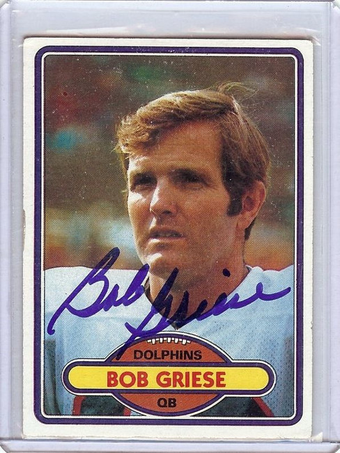 Bob Griese 1980 Topps Hand Signed Autograph Dolphins JSA KK56502 #35