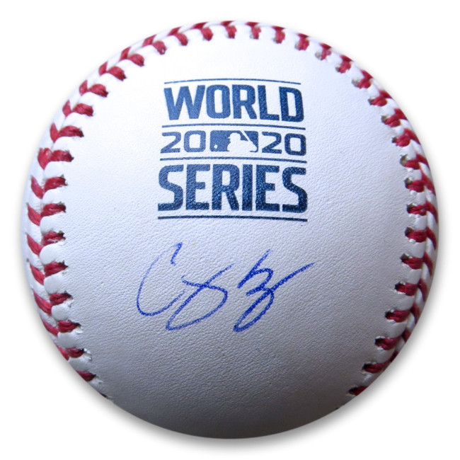 Corey Seager Signed Autographed 2020 World Series Baseball LA Dodgers MLB