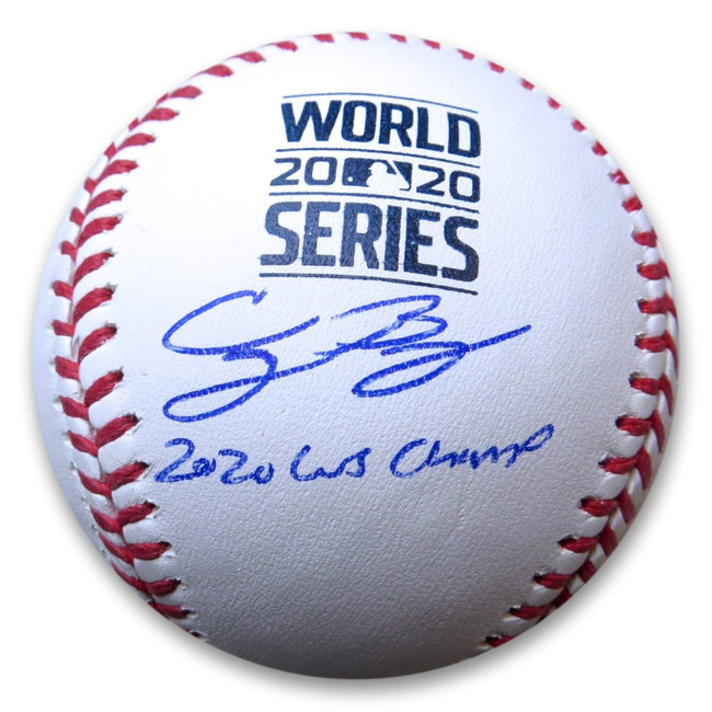 "Cody Bellinger Signed Autographed WS Baseball ""2020 WS Champ"" Dodgers MLB"