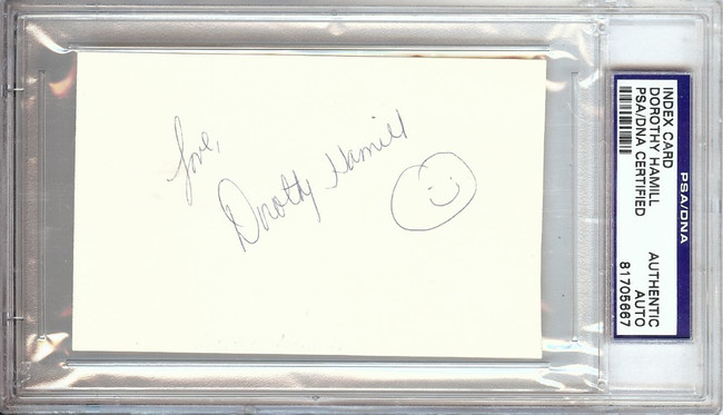 Dorothy Hamill Signed Autographed Index Card Legendary Olympic Skater PSA/DNA