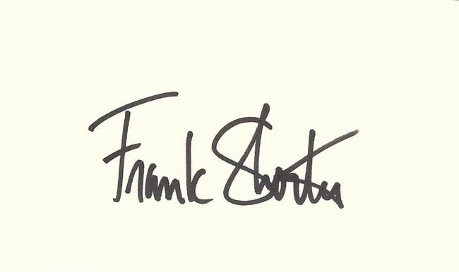 Frank Shorter Signed Autographed Index Card Olympic Marathon Runner Gold COA