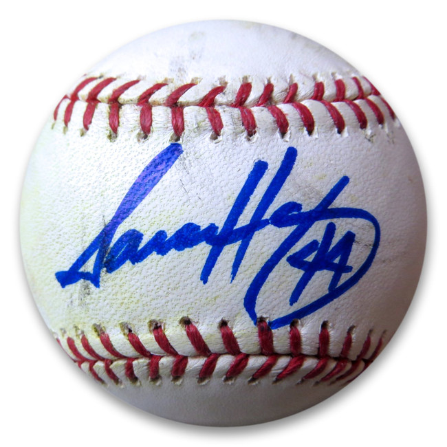 Aaron Harang Signed Autographed MLB Baseball Dodgers Mets Braves Reds GX31419