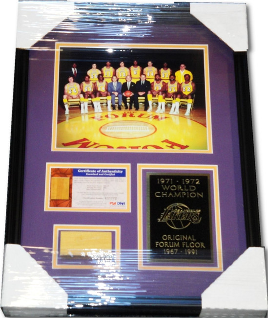 1971/1972 World Champions Piece of the Original Forum Floor Custom Framed Photo